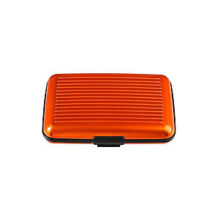 Orange Aluminum Wallet Credit Card Holder With RFID Protection